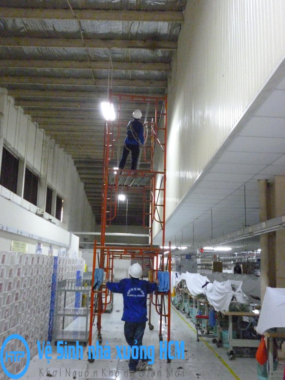 Quét bụi nhà xưởng tại Tây Ninh