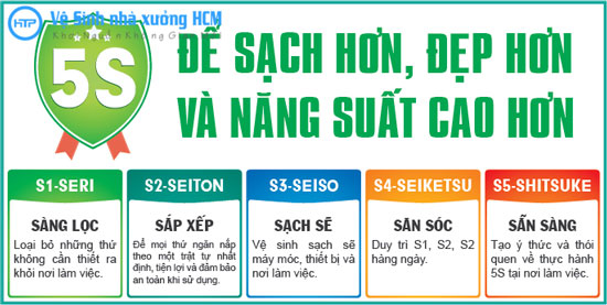 Tiêu chuẩn 5s tại Hồng Tâm Phát